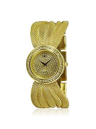 Adee Kaye Women's 20-LG/C Gold/Yellow Brass Mesh Watch