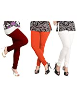 Lux Combo Of Cotton Leggings (Set Of Three) - L- 13-17-10