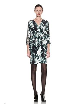 Poleci Women's Silk Kimono Dress (Stamped)