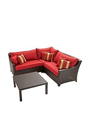 RST Brands Deco 4-Piece Corner Sectional Set, Red