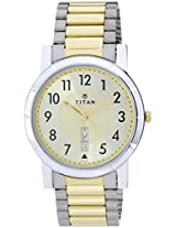 Titan Analog Gold Dial Men's Watch - 1647BM02