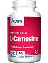 Jarrow Formulas, L-Carnosine 500, Beta-Alanyl-L-Histidine, 500 mg, 90 Capsules