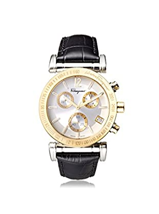 Salvatore Ferragamo Men's FP1830014 Salvatore Black/Silver Leather Chrono Watch