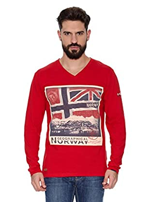Geographical Norway Camiseta Manga Larga ML Jatchmen Ls Men 402 (Rojo)