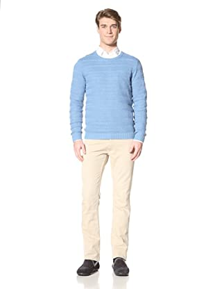 Ben Sherman Men's Ribbed Stripe Sweater (Kit Blue)