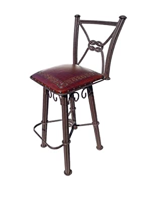 New World Trading Classic Western Iron Barstool, Antique Brown