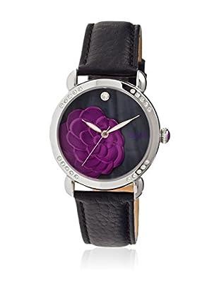 Bertha Uhr mit Japanischem Quarzuhrwerk Daphne schwarz 41 mm