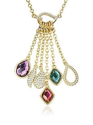 Saint Francis Crystals Halskette mit Anhänger Made With Swarovski® Elements gelbvergoldet