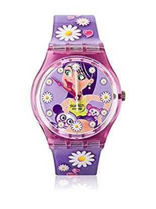 Swatch Quarzuhr Woman HAPPY FLOWER GV119 34 mm