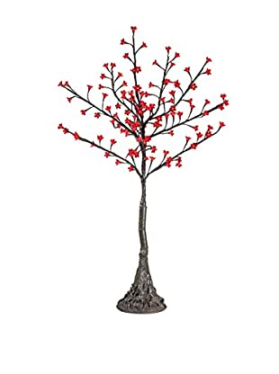 LED Red Cherry Blossom Tree, Warm White Bulbs