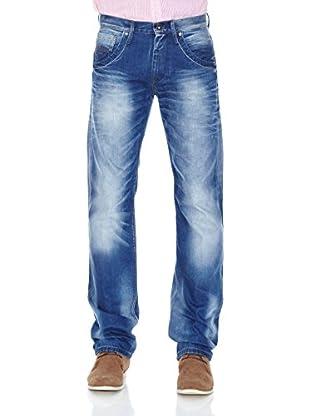 Pepe Jeans London Vaquero Tooting Zip (Azul Lavado)