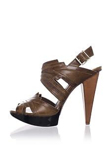 MARNI Women's Slingback Platform Sandal (Black Brown)