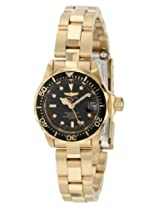 Invicta Women's Gold Stainless Steel Analogue Watch - 8943