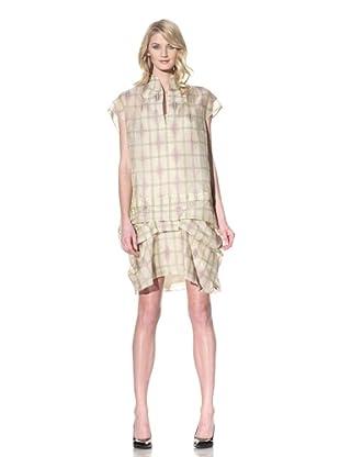 MARNI Women's Stitched Organza Dress (Mais Mauve)