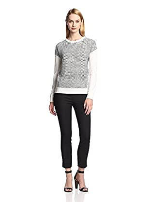 M.Patmos Women's Snakeskin Net Sweatshirt (Black/White)