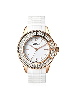 Versus by Versace Women's SGM070013 Tokyo Crystal White Rubber Watch