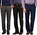 Gwalior Suitings Men Trousers Combo Of Three 501