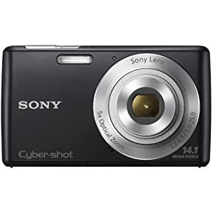 Sony Cyber-shot DSC-W620 14.1MP Point-and-Shoot Digital Camera (Black) with Camera Case