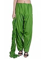 Jaipur Kala Kendra Women's Patiala Salwar Dupatta Set (10010_Parrot Green_Large)