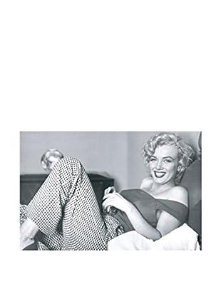Artopweb Wandbild Marilyn Monroe - Bed 43x66 cm mehrfarbig