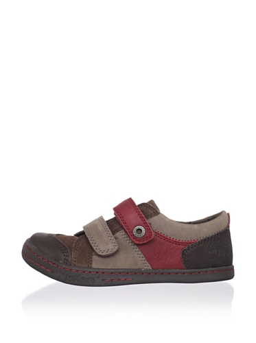 Kickers Kid's Jump Sneaker (Little Kid) (Brown/Red)