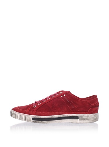 Alessandro Dell Acqua Men's Range Distressed Sneaker (Red)
