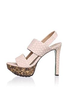 Lisa by Donald J Pliner Women's Dava Platform Sandal (Nude/Rock)