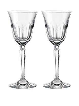 Rogaška Set of 2 Aulide 8-Oz. Goblets, Clear