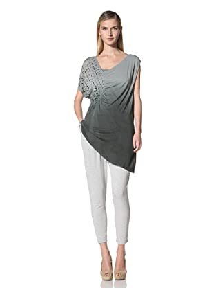 Poleci Women's Top with Perforated Side Panel (Grey)