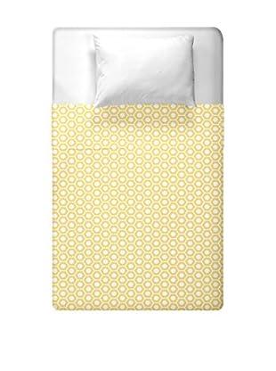 e by design Geometric Duvet Cover (Yellow)