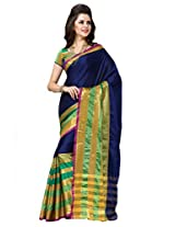 Blue Color Cotton Blend Saree ( Saira )