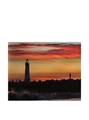 LegendArte  Wandbild Santa Cruz. Leuchtturm bei Sonnenuntergang
