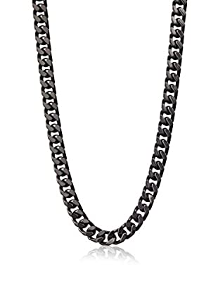 Stephen Oliver Men's Black-Plated Cuban Necklace