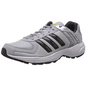 Adidas Men's Galba Silver Grey and Black Mesh Running Shoes - 11 UK