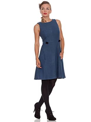 Divina Providencia Vestido Liso (Azul)