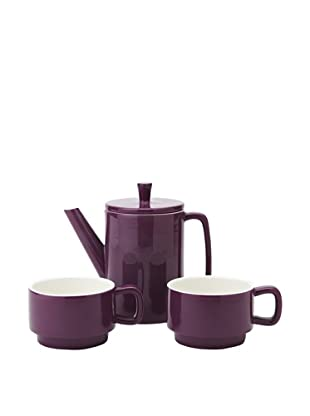Classic Coffee & Tea Tea For Two Set, Aubergine