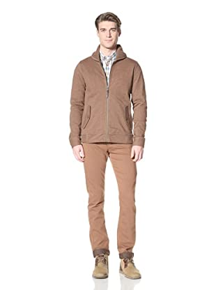 Ben Sherman Men's Shawl Collar Sweatshirt (Baked Brown)