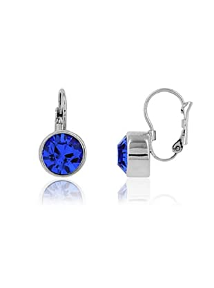 Frou Frou Bijoux Orecchini Design Diamond Svarowski blu