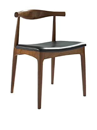 Euro Home Collection Troy Chair, Walnut