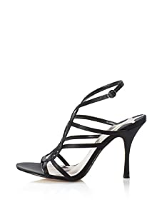 MaxStudio Women's Semel Strappy Dress Sandal (Black)
