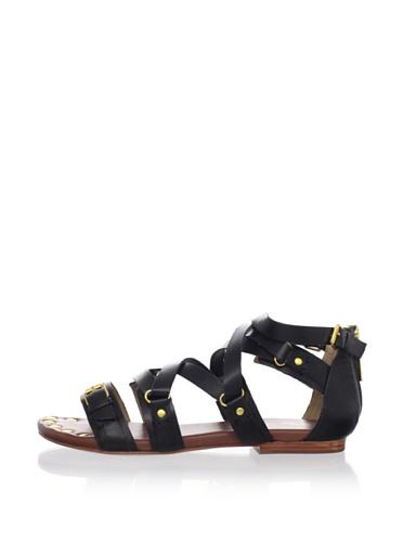 Matt Bernson Women's Marion Flat Sandal (Black)