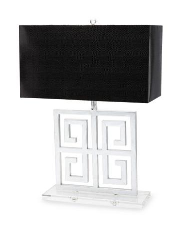A&F Lighting Horizon Series Santorini Table Lamp, Silver/Black