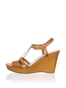 Rockport Women's Locklyn Pendant Wedge Sandal (Brown)