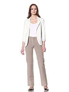 Loro Piana Women's Akan Flat-Front Pants (Dark Maple)