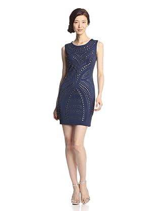 Romeo & Juliet Couture Women's Studded Scuba Dress (Blue Night)