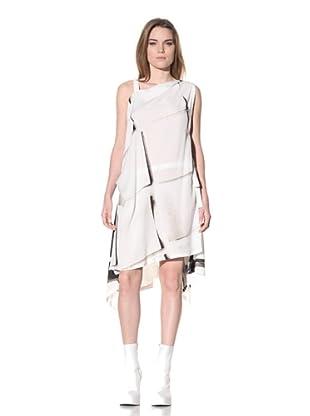 Ann Demeulemeester Women's Twisted Shoulder Dress (Off-White)