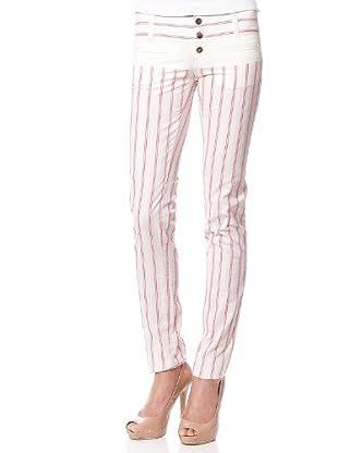 Custo Pantalón Nagisa (Rosa / Blanco)