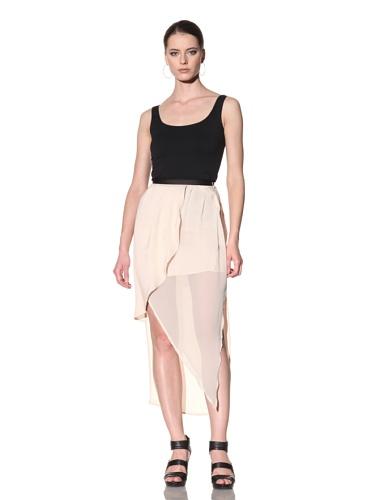 FACTORY by Erik Hart Women's Wrap Maxi Skirt (Nude)