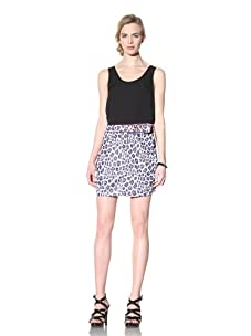 Vivienne Westwood Red Label Women's Twisted Animal Print Skirt (Blue)