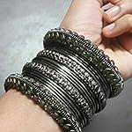 Black metal bangles